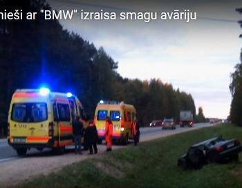 FOTO: Atkal piedzērušies jaunieši izraisa smagu avāriju; Mārupē cietuši 7 cilvēki